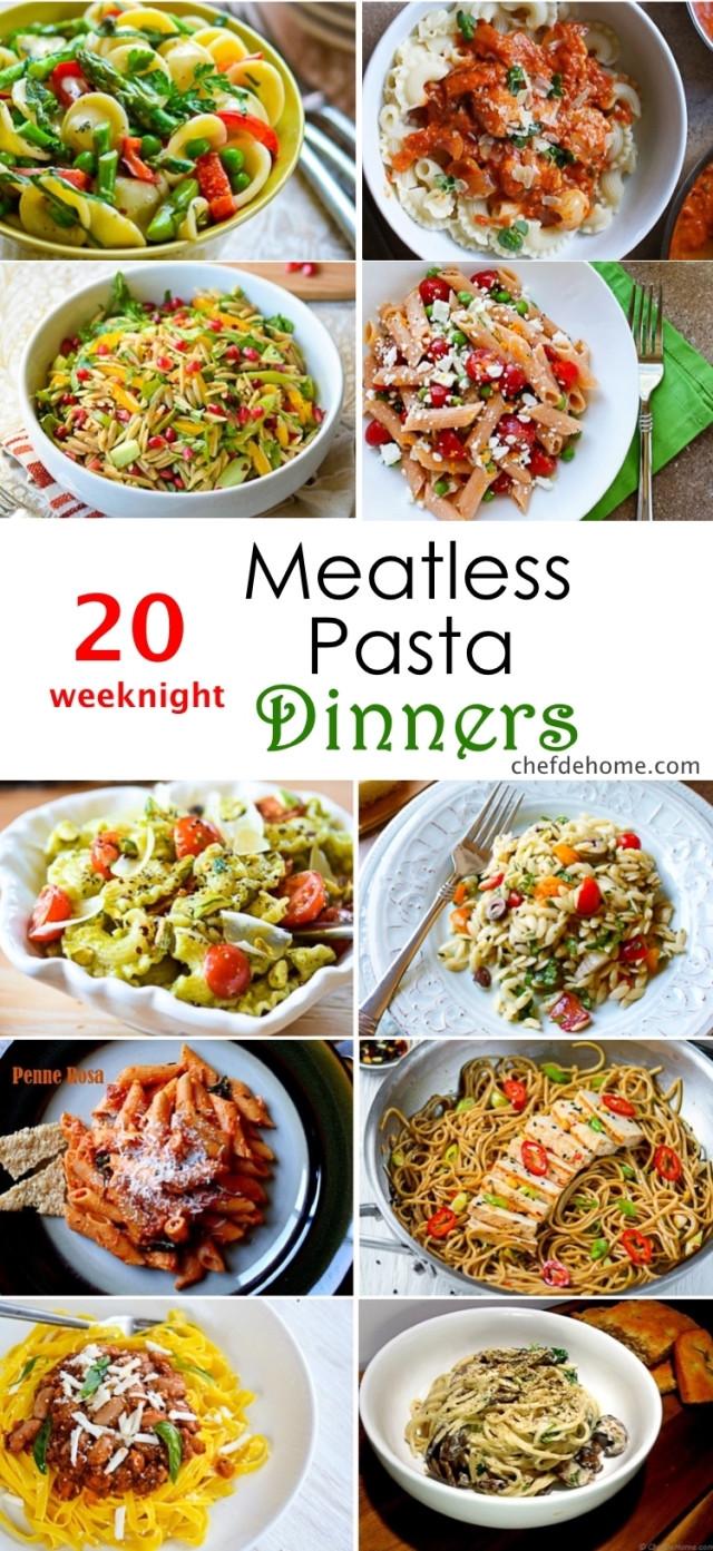 Pasta Dinner Ideas  20 Weeknight Meatless Pasta Dinner Ideas Meals