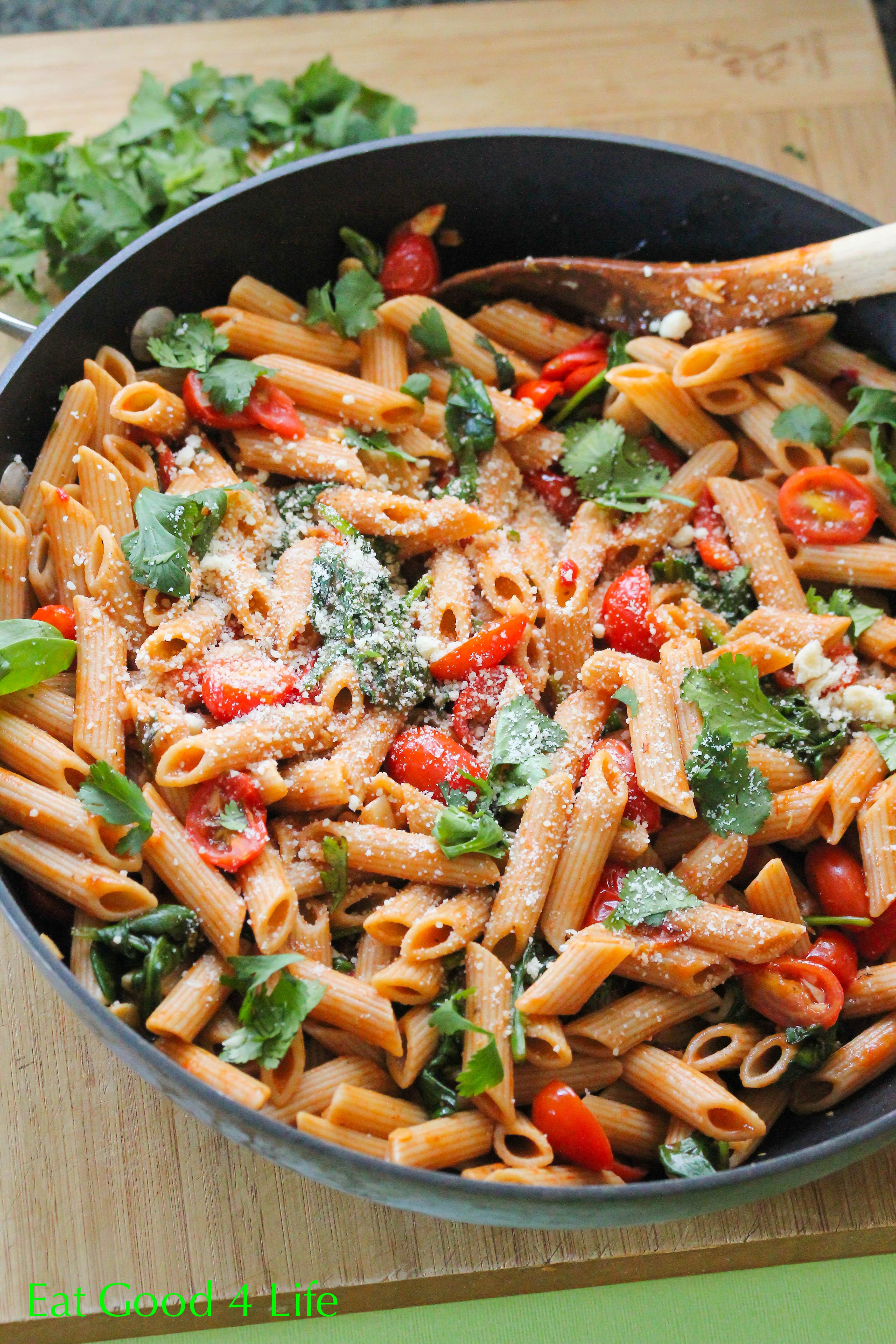 Pasta Dinner Ideas  Fire roasted tomato pasta