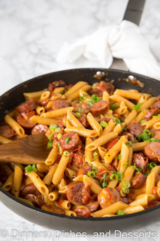 Pasta Dishes For Dinner  e Pan Cheesy Sausage Pasta Dinners Dishes and Desserts