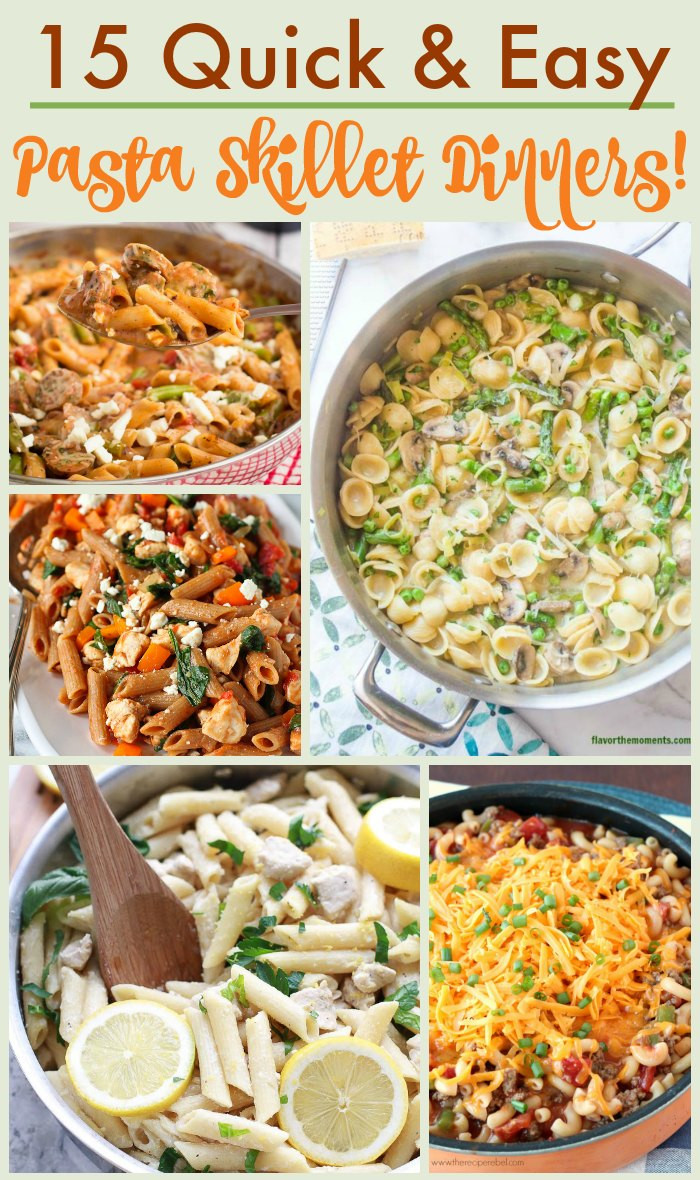 Pasta Dishes For Dinner  15 Pasta Skillet Recipes for Dinner in a Hurry The