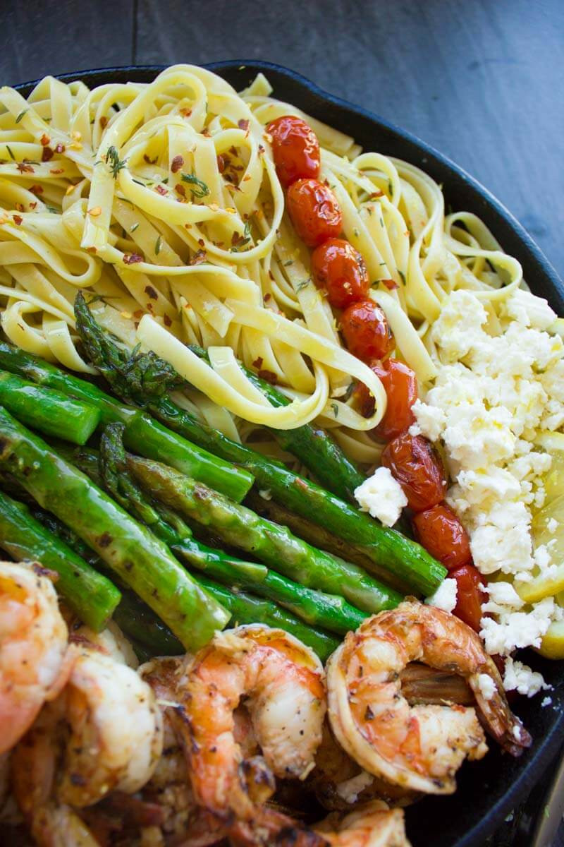 Pasta Idea For Dinner  Asparagus Shrimp Pasta Dinner Easy Peasy Meals