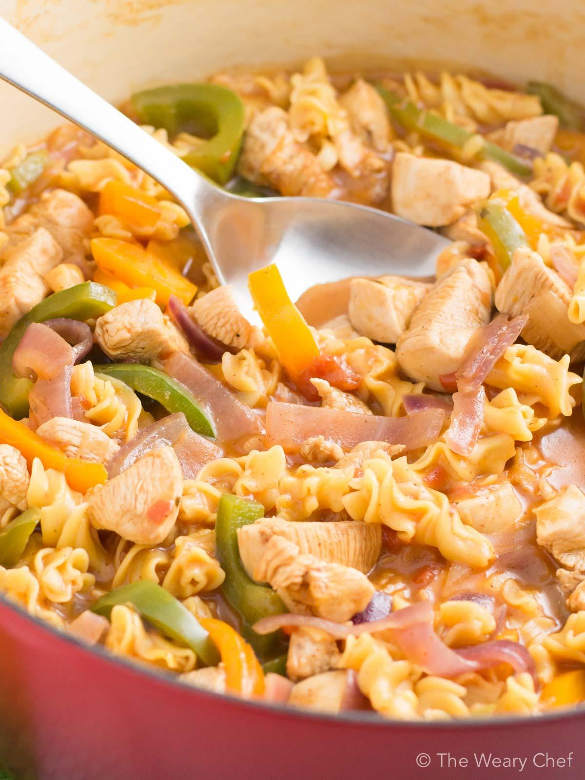 Pasta Idea For Dinner  e Pot Fajita Chicken Pasta Recipe The Weary Chef