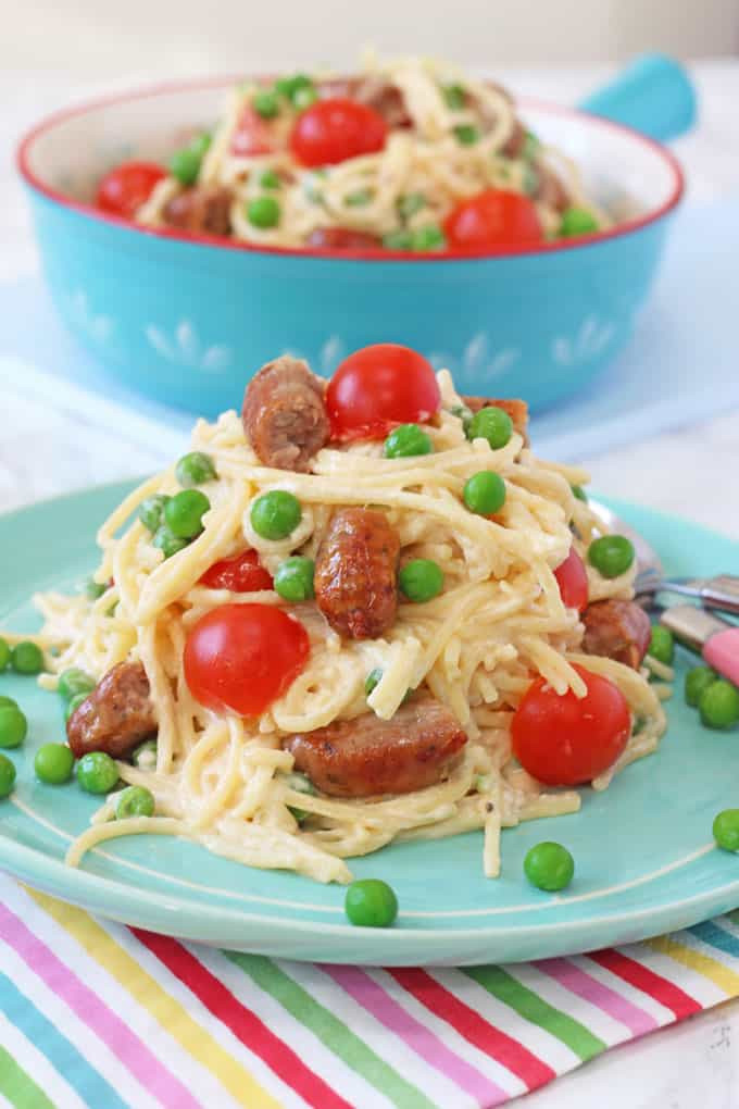 Pasta Recipes For Kids  Quick Sausage Spaghetti For Kids My Fussy Eater