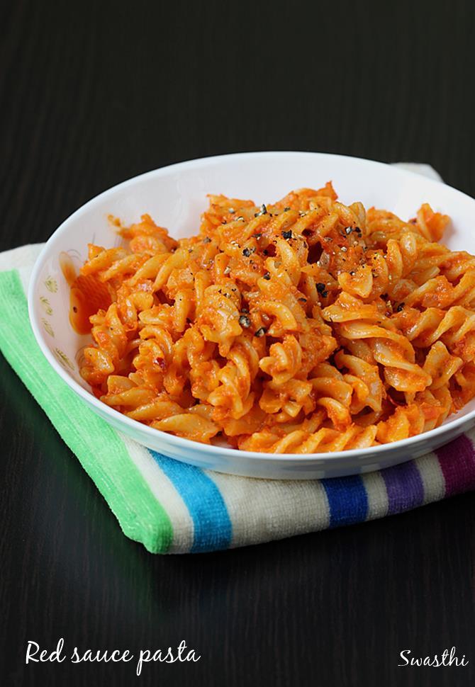Pasta Recipes For Kids  Red sauce pasta recipe