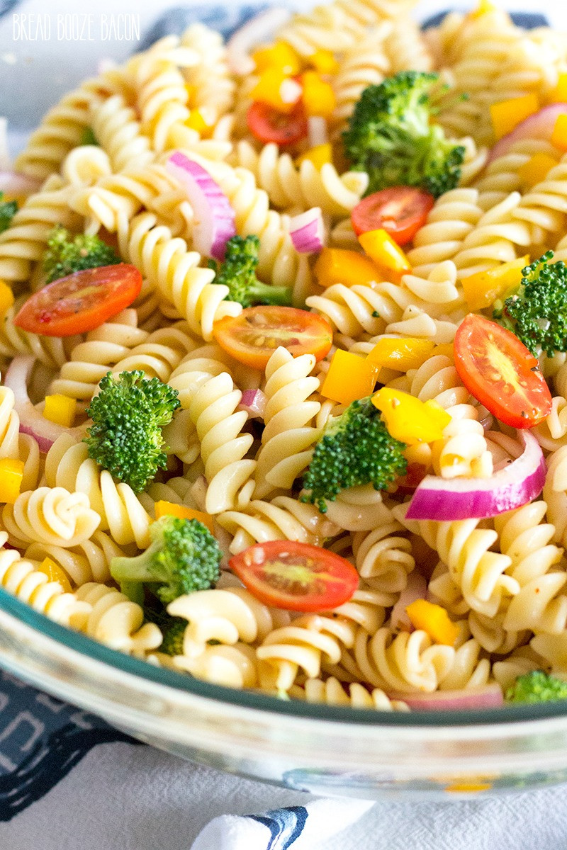 Pasta Salad Recipes Easy  Easy Ve able Pasta Salad with Italian Dressing