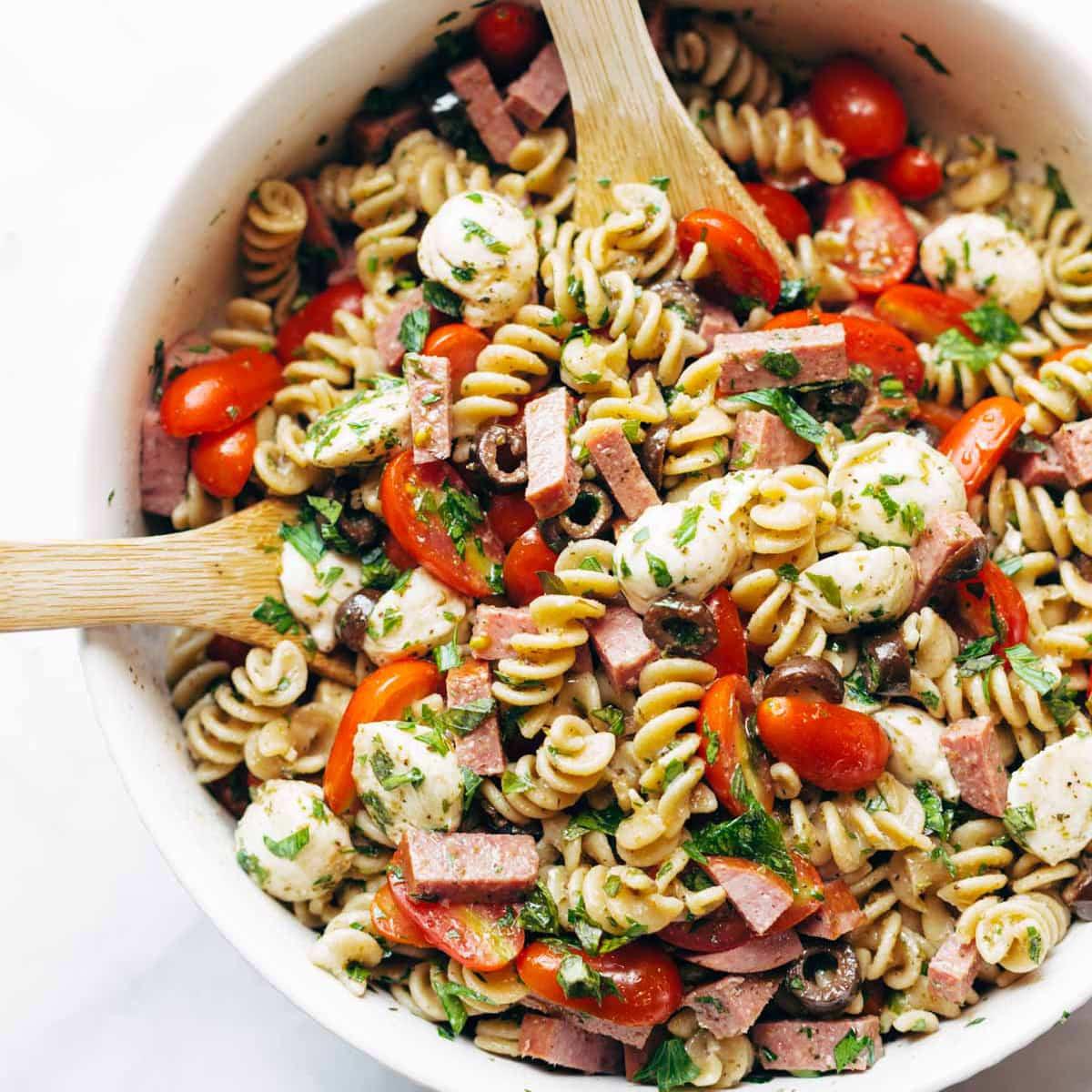 Pasta Salad Recipes Easy  Best Easy Italian Pasta Salad Recipe Pinch of Yum