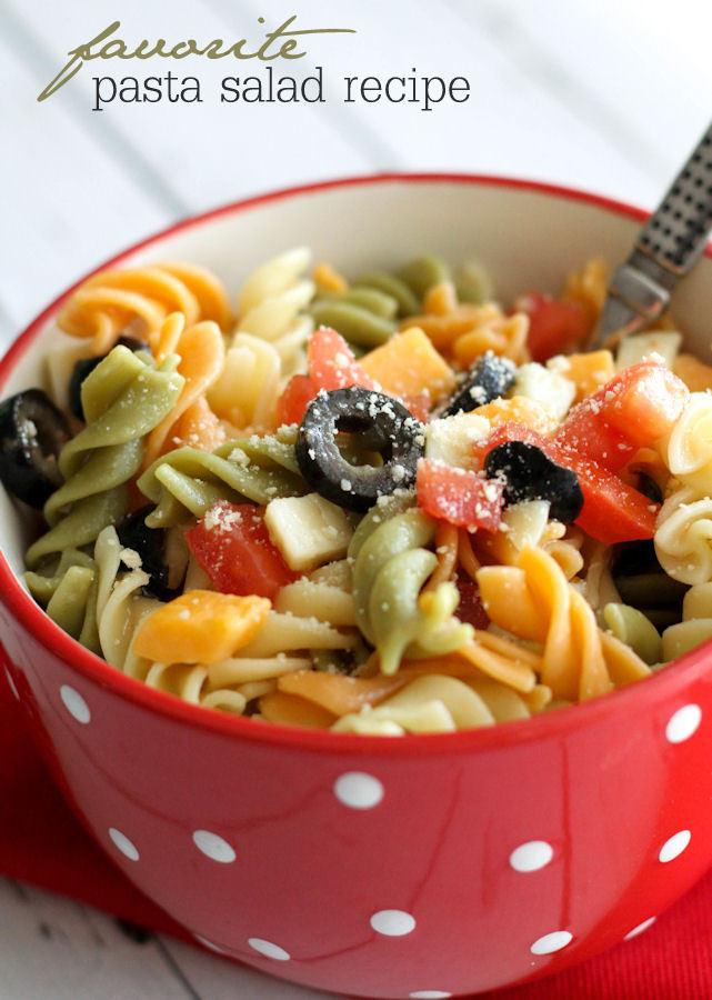 Pasta Salad Recipes Easy  delicious pasta salad recipe