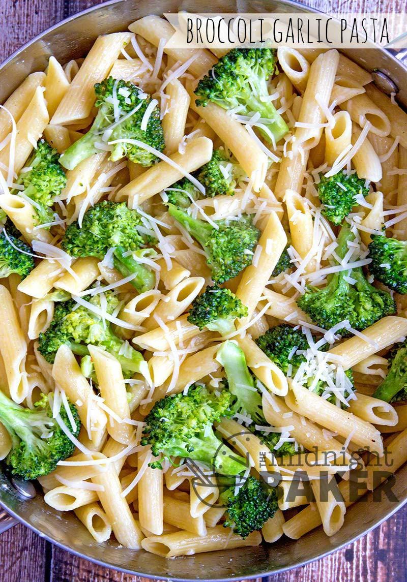 Pasta With Broccoli  Broccoli Garlic Pasta The Midnight Baker