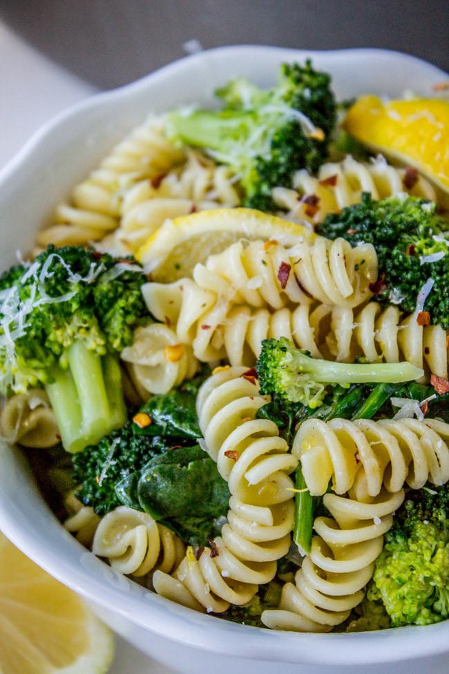 Pasta With Broccoli  20 Minute Lemon Broccoli Pasta Skillet The Food Charlatan