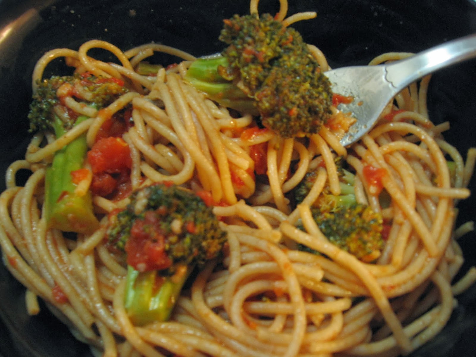 Pasta With Broccoli  Deceptively Healthy Spaghetti with Broccoli and Tomato Sauce