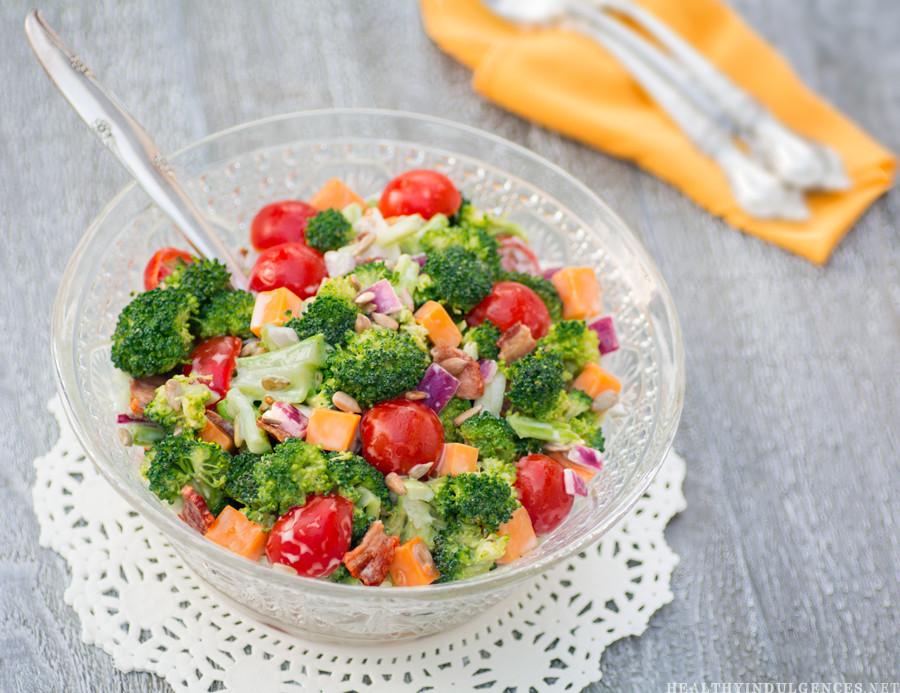 Paula Deen Broccoli Salad  Sugar Free Broccoli Bacon Salad Low Carb Diabetic