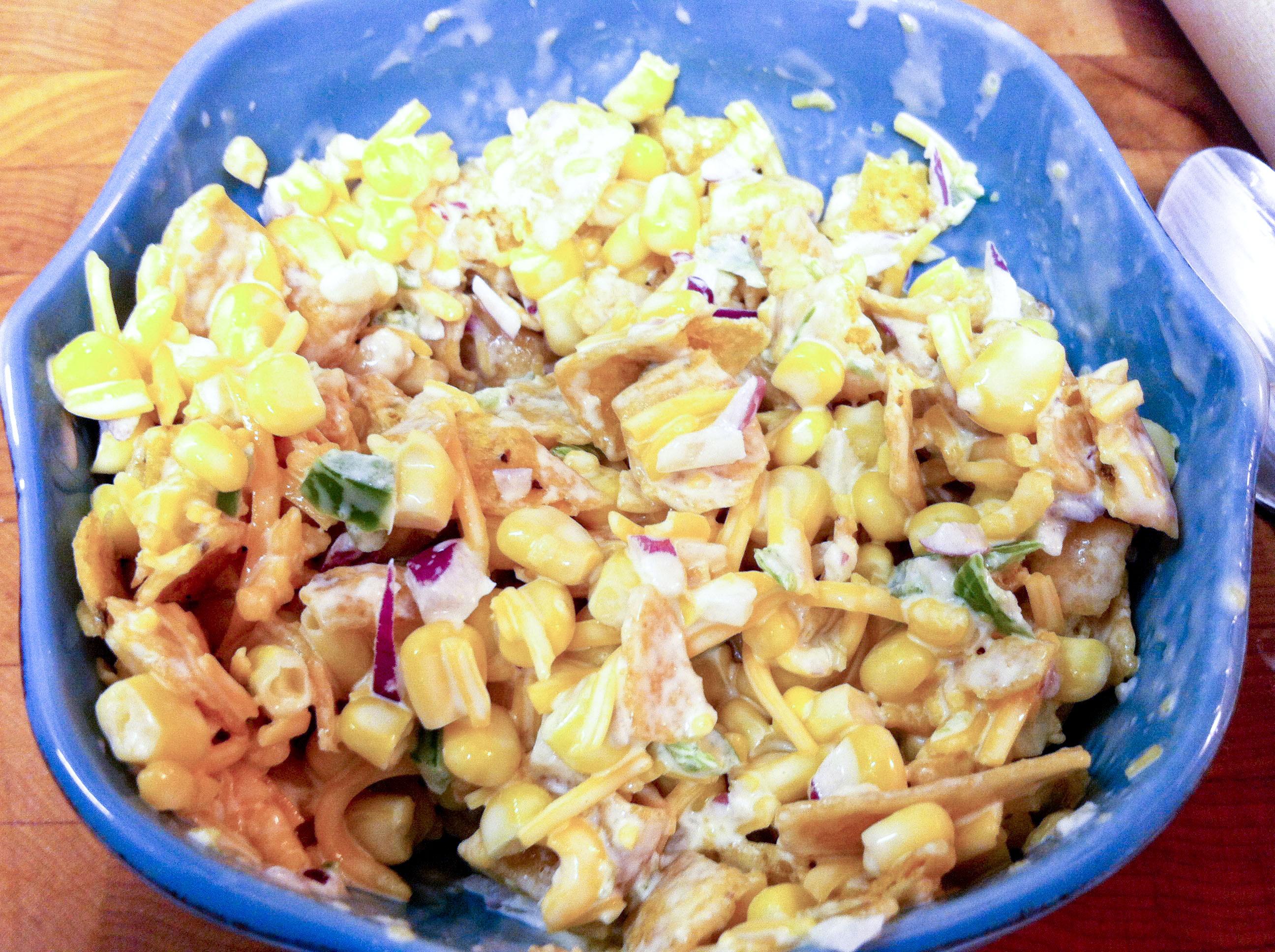 Paula Deen Corn Salad  paula deen chili cheese frito corn salad