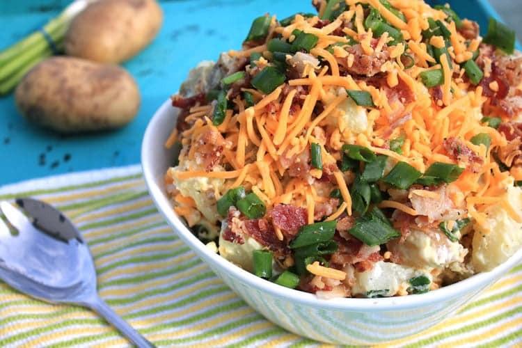 Paula Deen Potato Salad  Loaded Baked Potato Salad