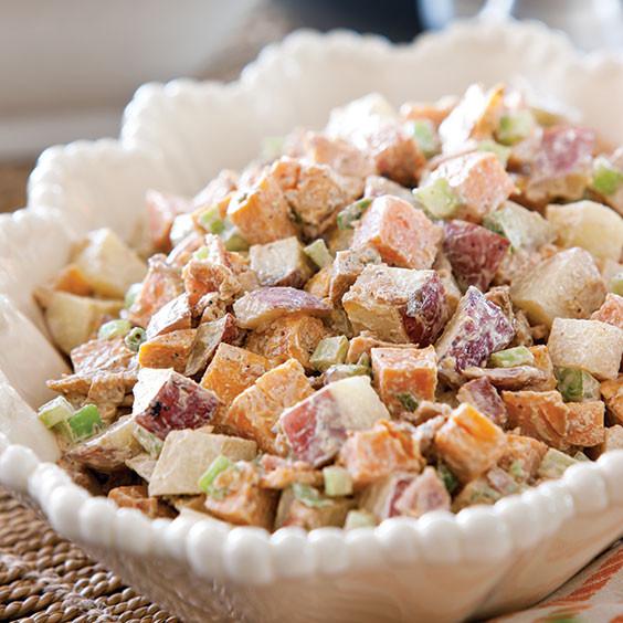Paula Deen Potato Salad  Roasted Two Potato Salad Recipe Cooking with Paula Deen