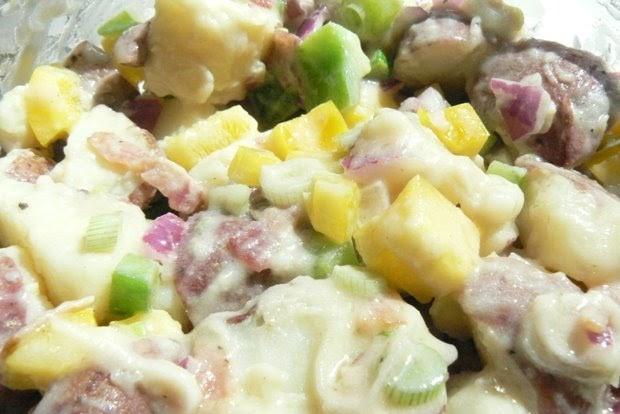 Paula Deen Potato Salad  Mrs 4444 Cooks Paula Deen s Red Potato Salad with Bacon