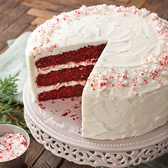 Paula Deen Red Velvet Cake  Red Velvet Cake with Peppermint Buttercream Paula Deen