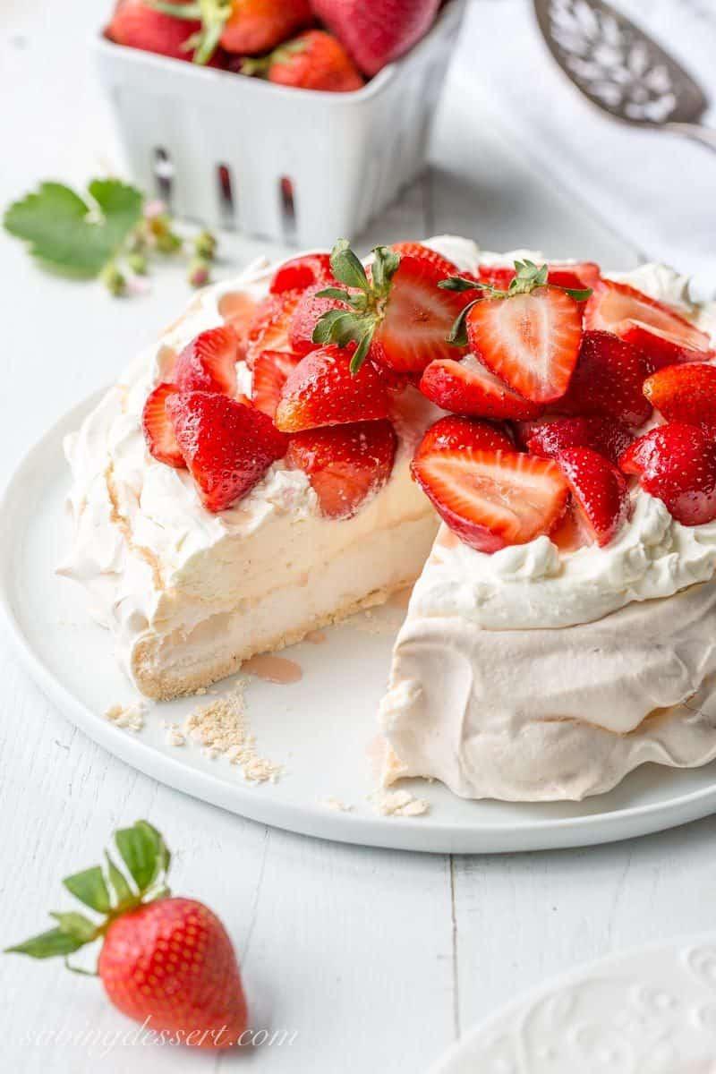 Pavlova Dessert Recipe  Strawberry & Mascarpone Pavlova Recipe Saving Room for