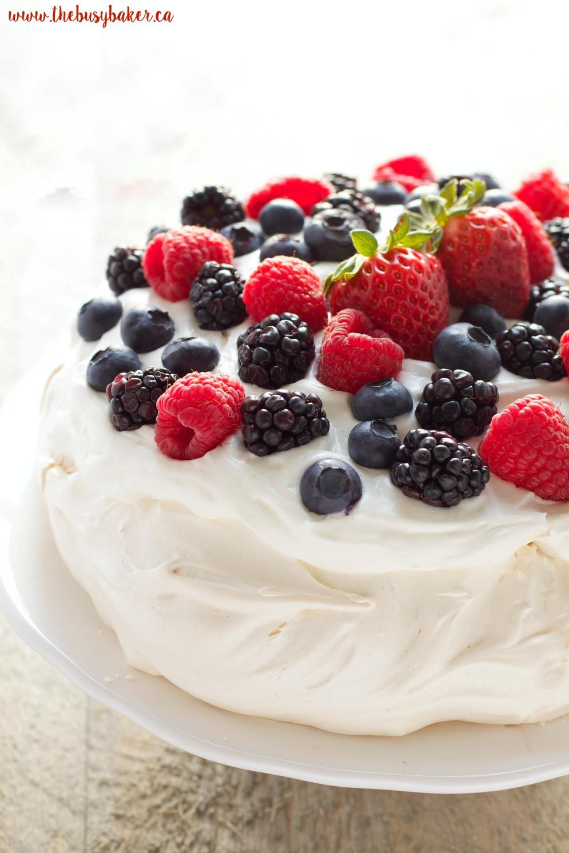 Pavlova Dessert Recipe  The Perfect Pavlova The Busy Baker
