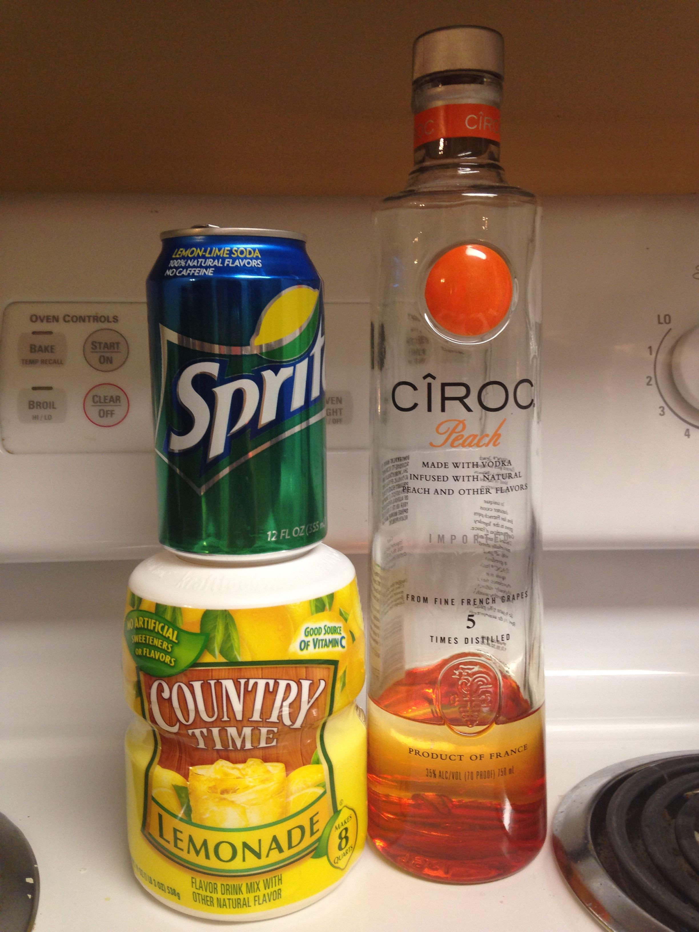 Peach Ciroc Drink Recipes  Peach Ciroc Country Time Lemonade and Sprite you can t