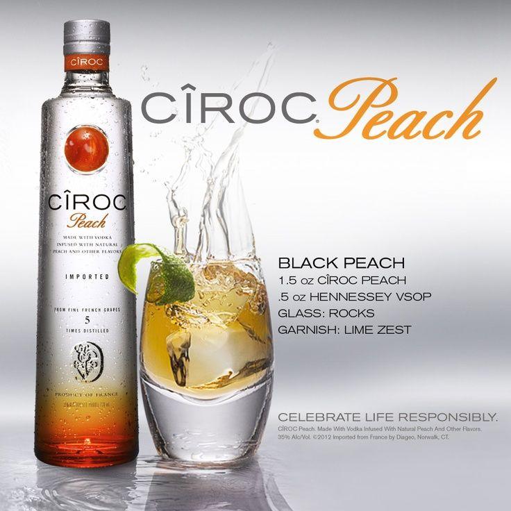 Peach Ciroc Drink Recipes  Black Peach Ciroc Peach Vodka cocktail