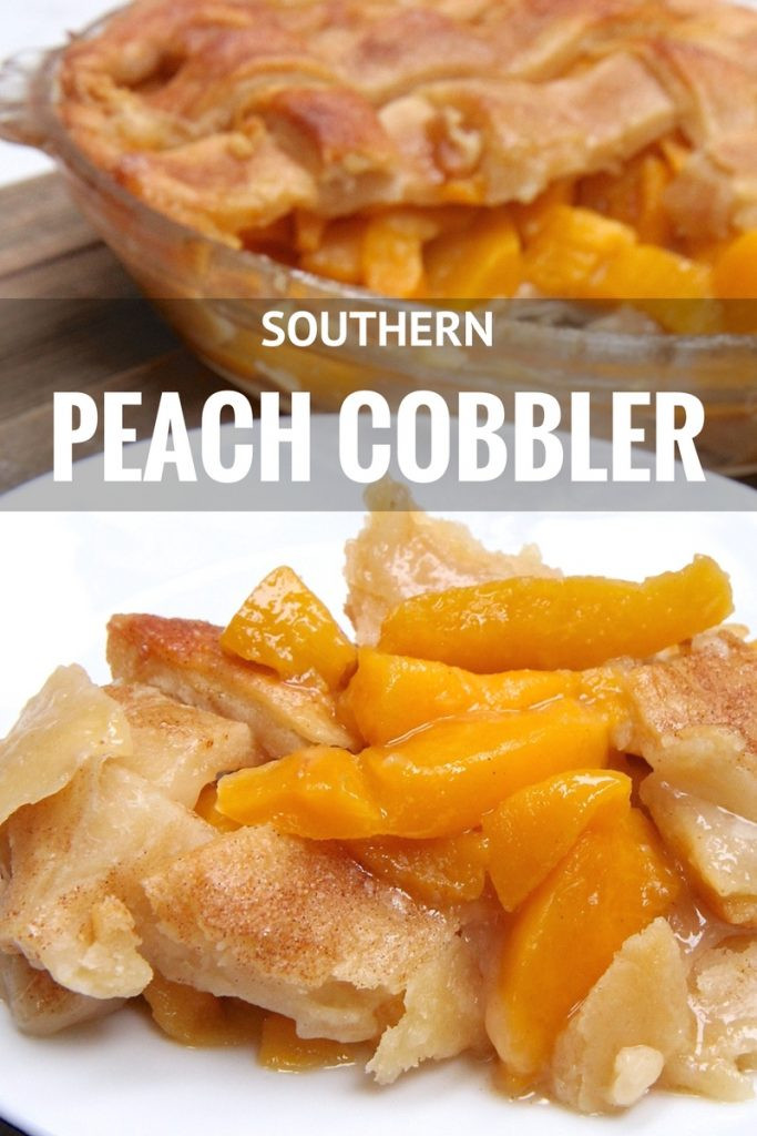 Peach Cobbler Pie  Easy Southern Peach Cobbler Recipe