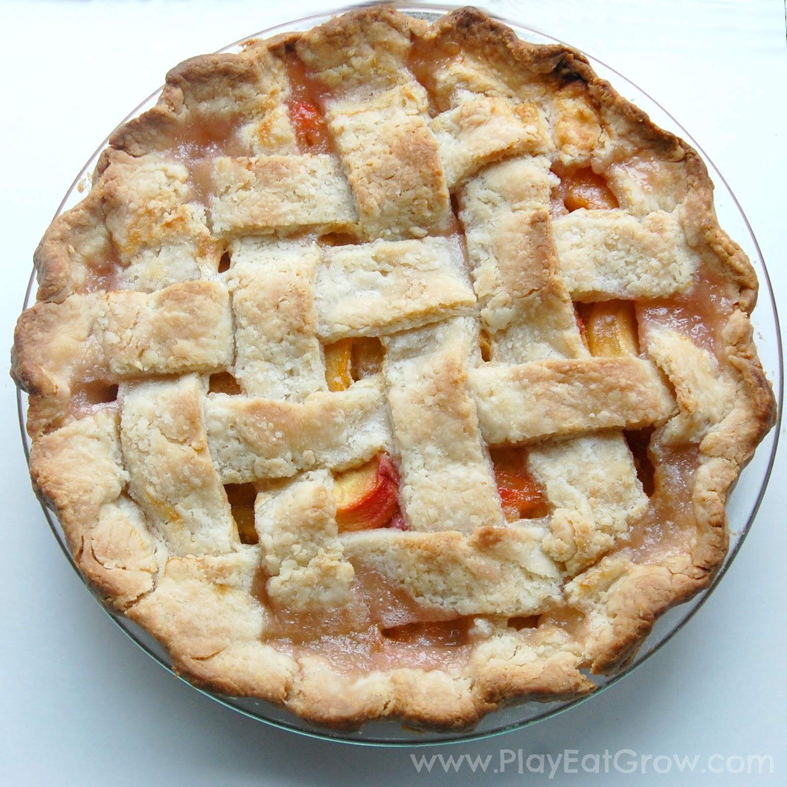 Peach Cobbler Pie  Play Eat Grow Eat Peach Cobbler Pie