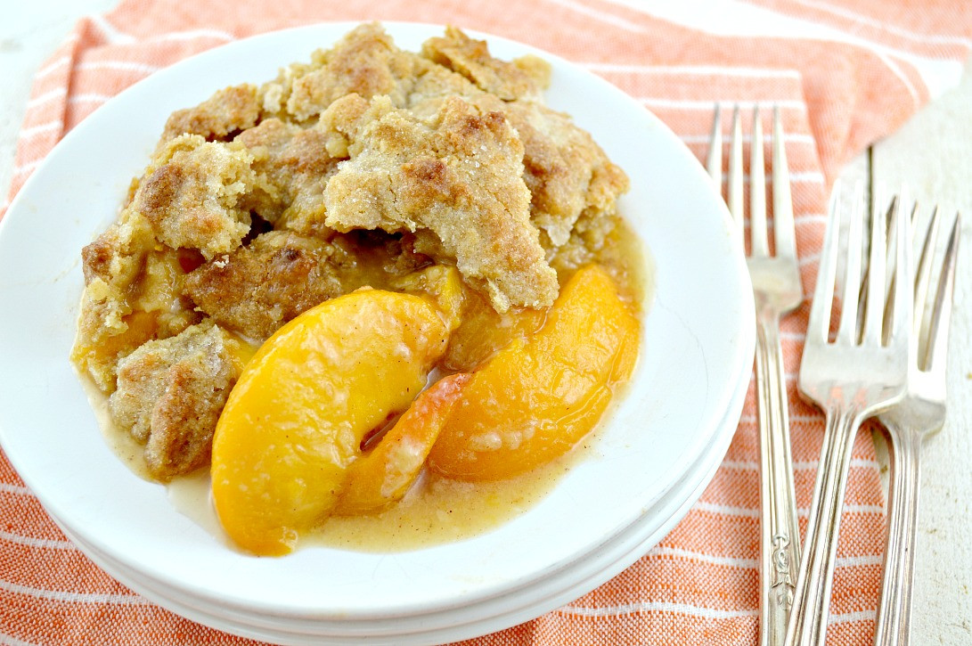 Peach Cobbler Southern  Southern Peach Cobbler Recipe — Dishmaps