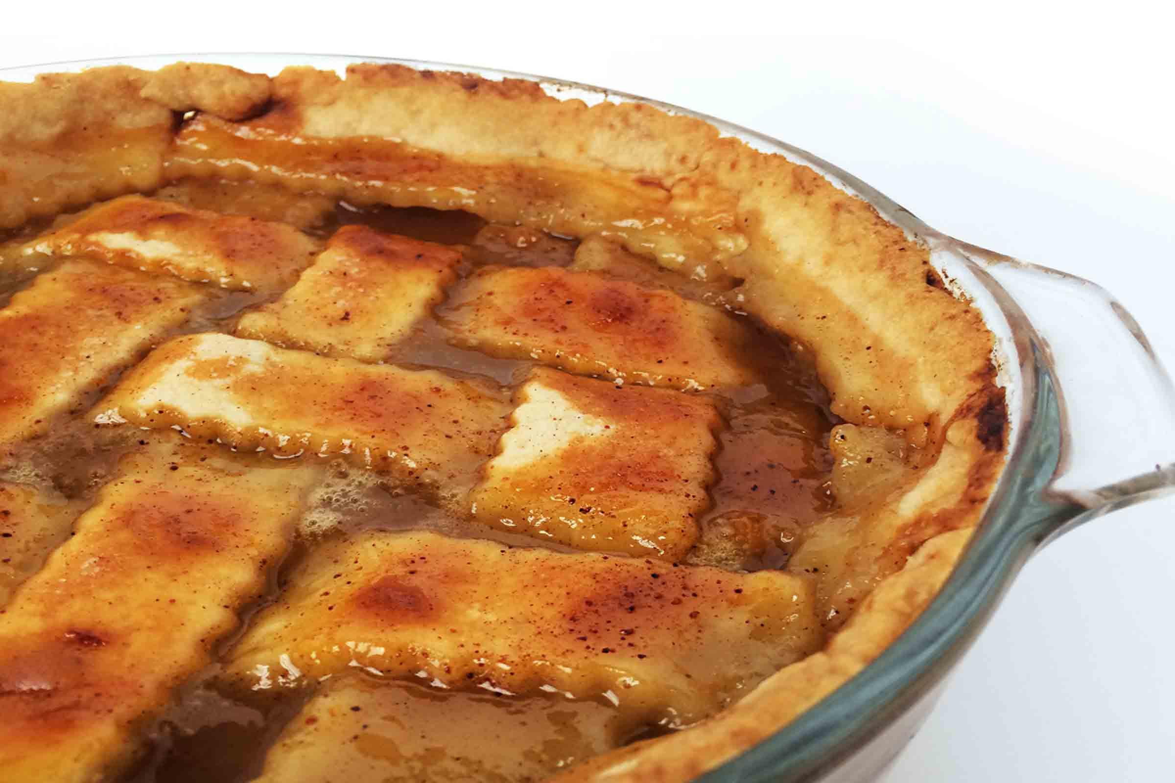Peach Cobbler With Pie Crust  Double Crust Peach Cobbler – Full