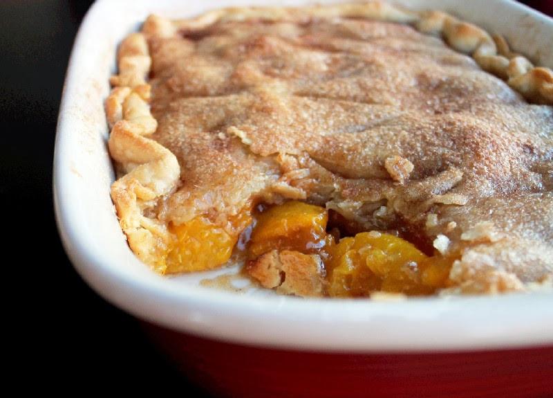 Peach Cobbler With Pie Crust  peach cobbler recipe with premade pie crust