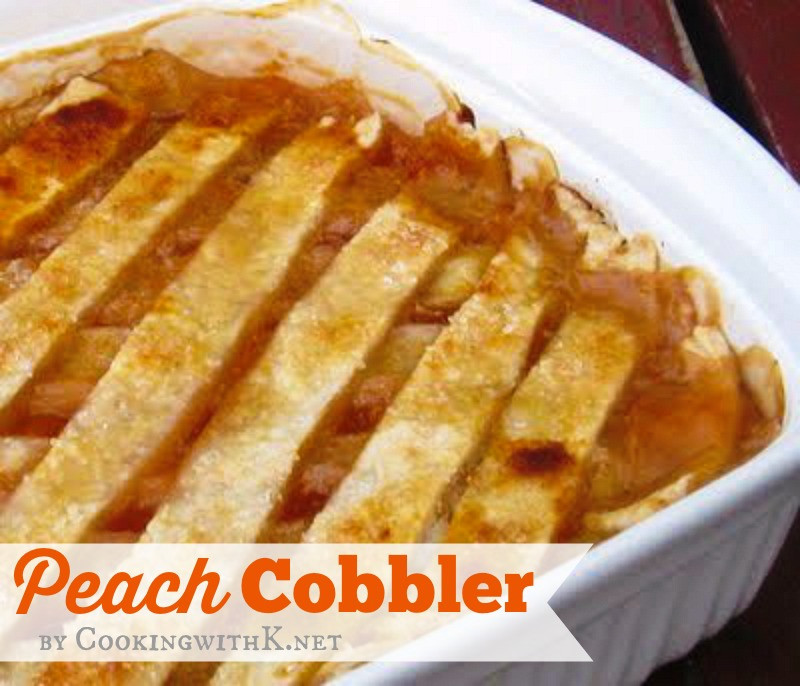 Peach Cobbler With Pie Crust  Cooking with K Fresh Peach Cobbler With A Homemade Double