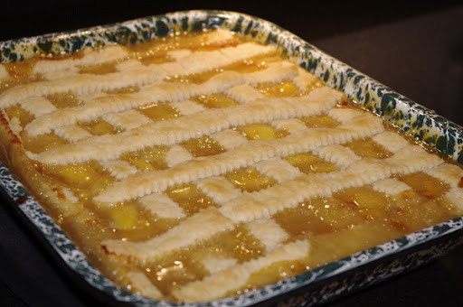 Peach Cobbler With Pie Crust  Double Crust Peach Pie Cobbler Fresh From Oregon