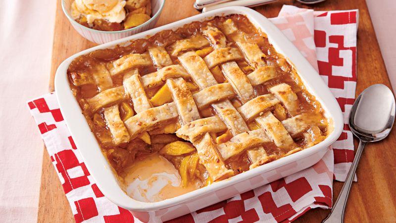 Peach Cobbler With Pie Crust  Pecan Peach Cobbler Recipe Pillsbury