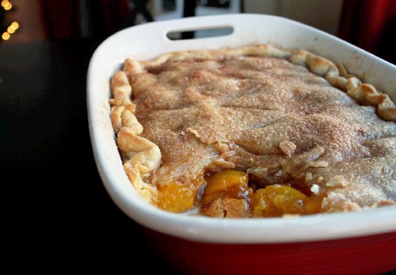 Peach Cobbler With Pie Crust  Rustic Peach Cobbler Quick and Easy Creole Contessa