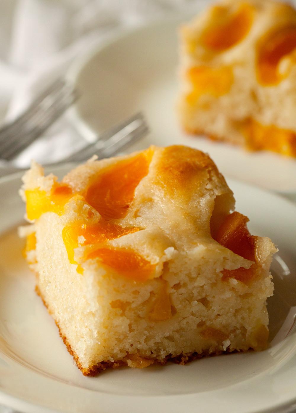 Peach Desserts Recipes  Peach Cobbler Snack Cake