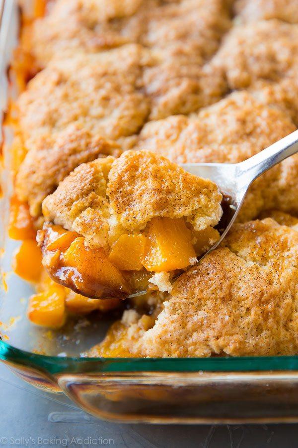 Peach Desserts Recipes  Fresh Peach Cobbler Sallys Baking Addiction