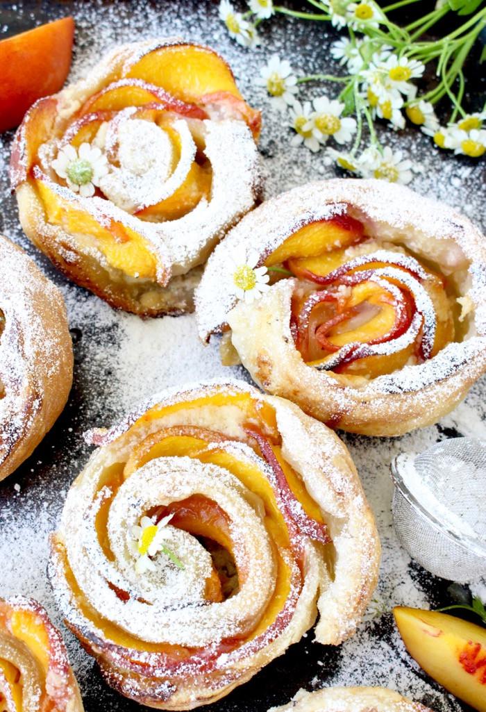 Peach Desserts Recipes  Fresh Peach Dessert Recipe with Mascarpone and Puff Pastry