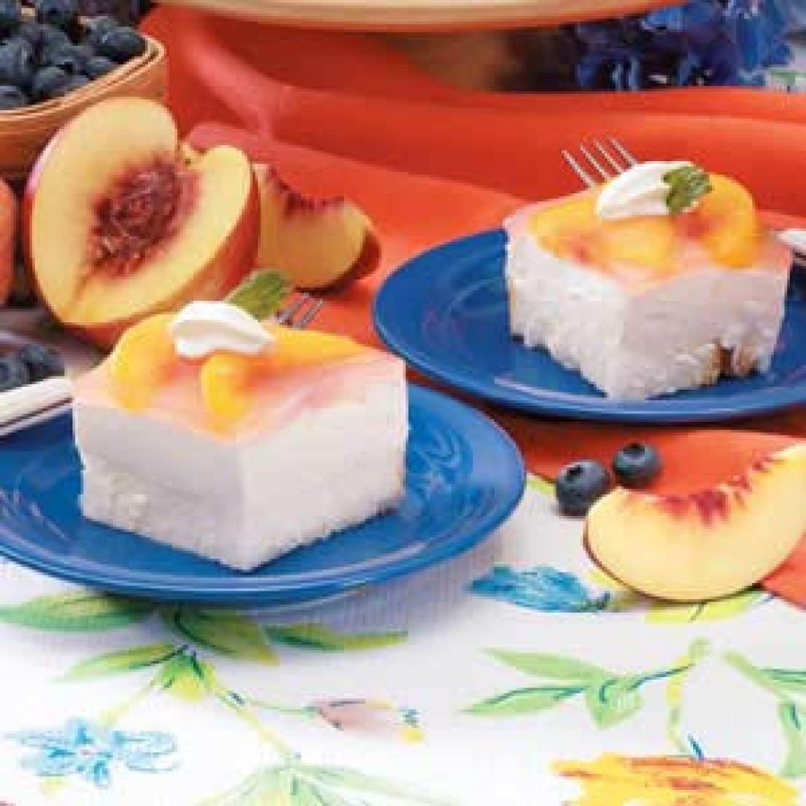 Peach Desserts Recipes  Peach Angel Dessert Recipe