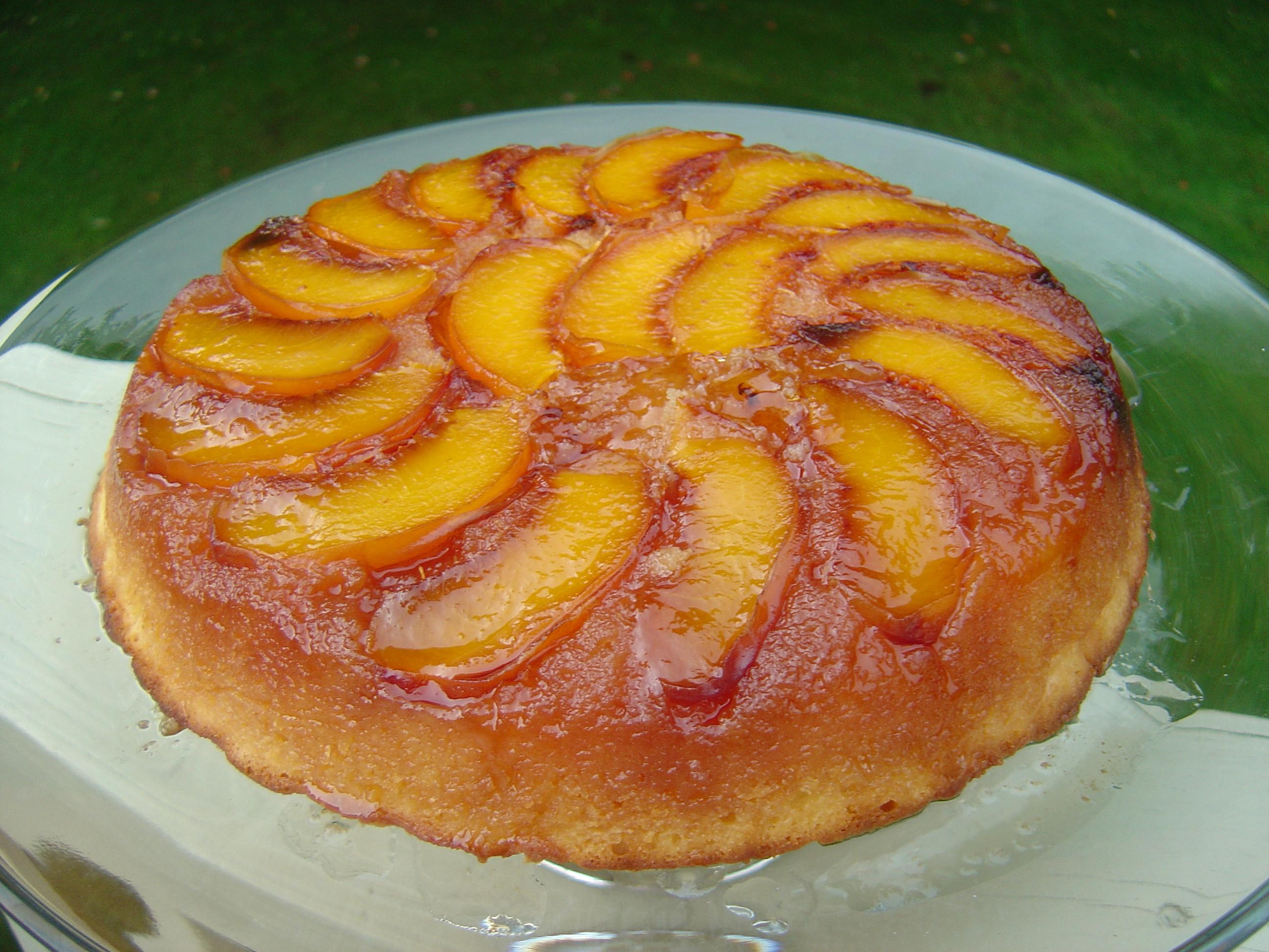 Peach Desserts Recipes  Peach Cake Tatin Smells Like Home