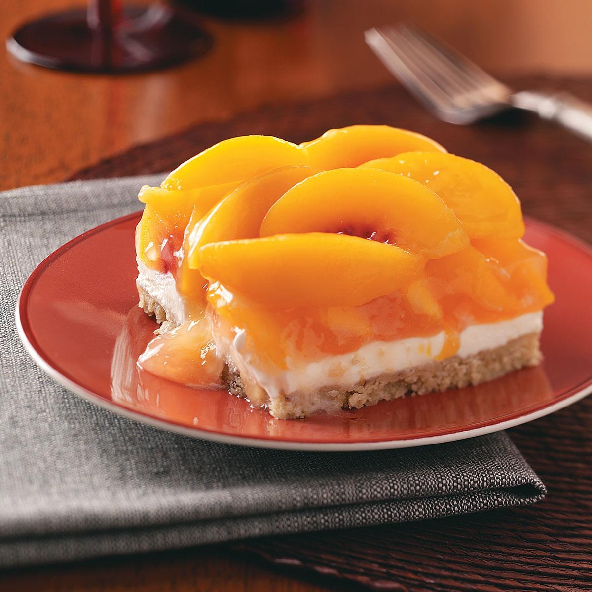 Peach Desserts Recipes  Peaches & Cream Dessert Recipe