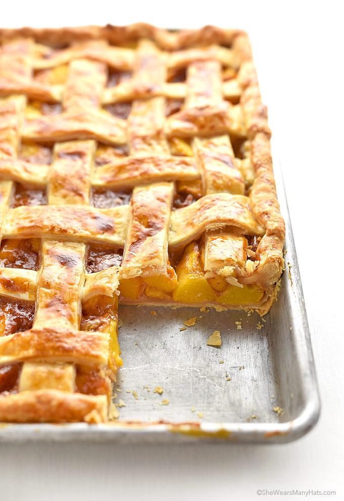 Peach Pie Recipes  Peach Slab Pie Recipe