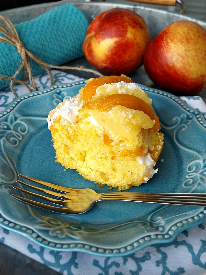 Peach Pound Cake  Fresh Homemade Summer Peach Pound Cake Dessert