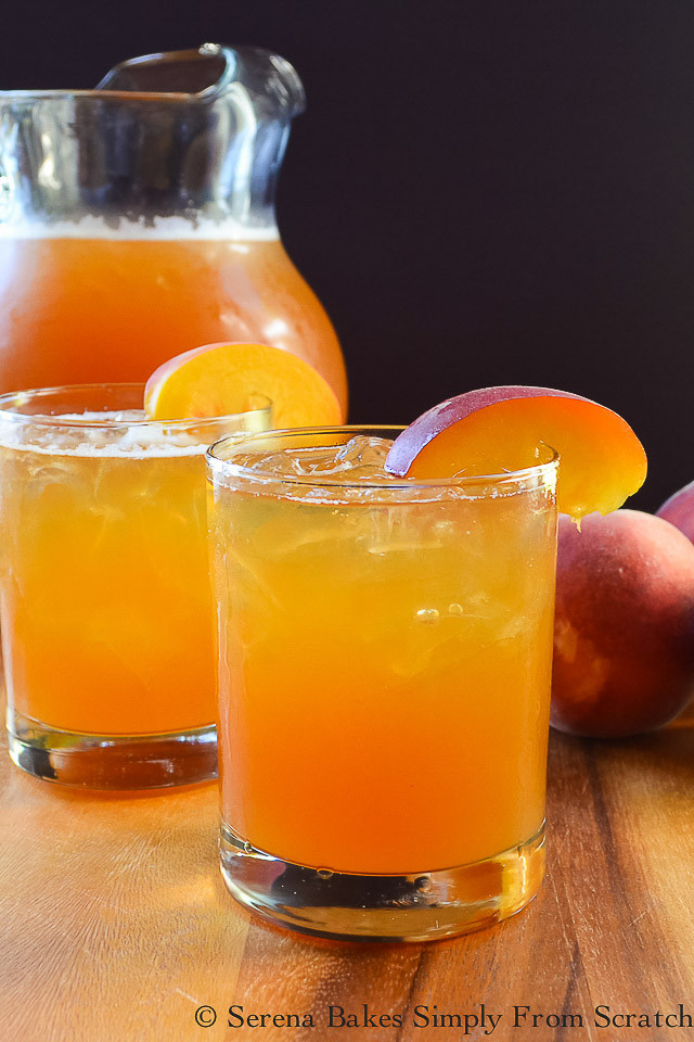 Peach Whiskey Drinks  Peach Whiskey Iced Tea