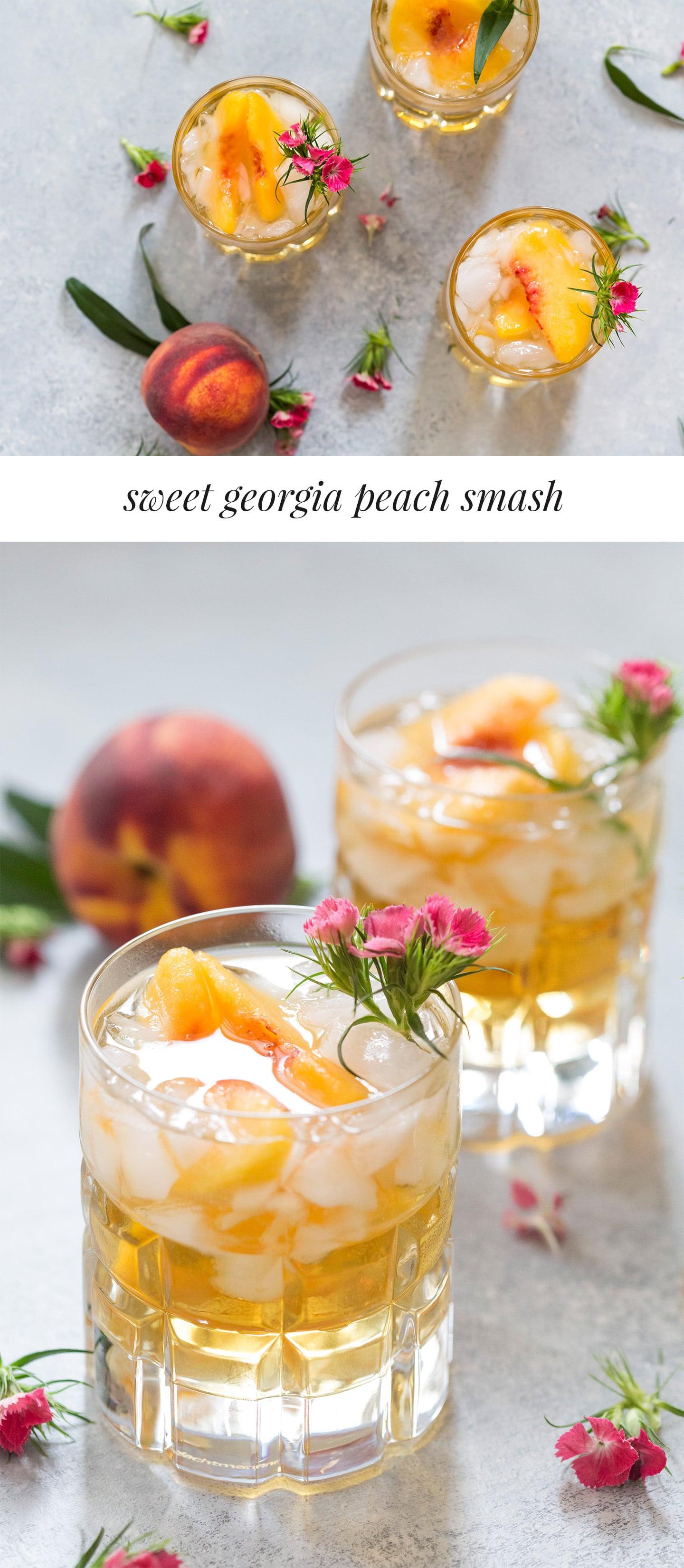 Peach Whiskey Drinks  Sweet Georgia Peach Drink Bourbon Cocktail Pizzazzerie