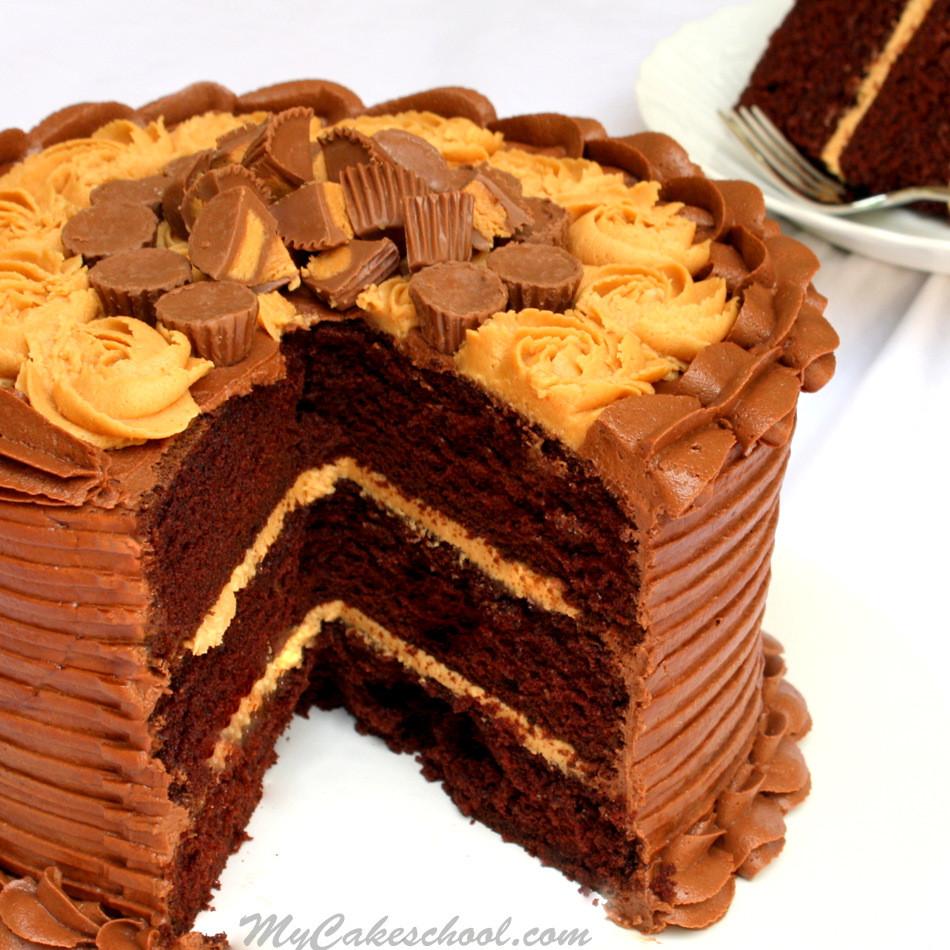 Peanut Butter Cake Recipe  Peanut Butter and Chocolate Cake Recipe from Scratch