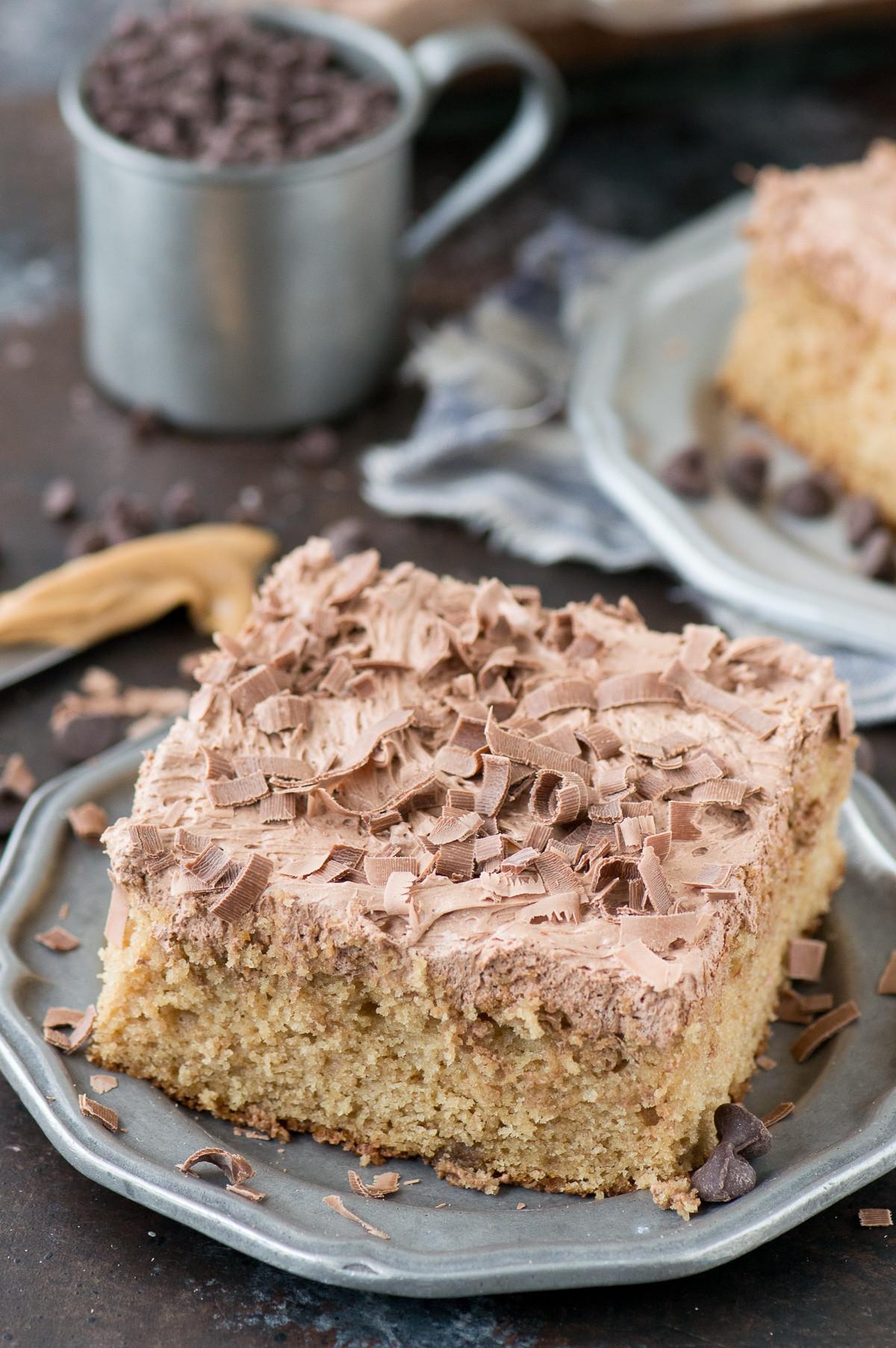 Peanut Butter Cake Recipe  moist peanut butter sheet cake