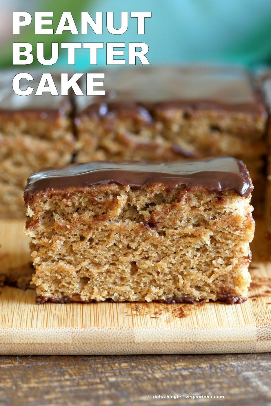 Peanut Butter Cake Recipe  Vegan Peanut Butter Cake with Chocolate Peanut Butter
