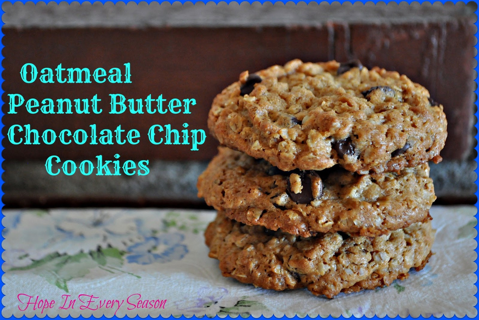Peanut Butter Chocolate Chip Oatmeal Cookies  Classical Homemaking Oatmeal Peanut Butter Chocolate Chip