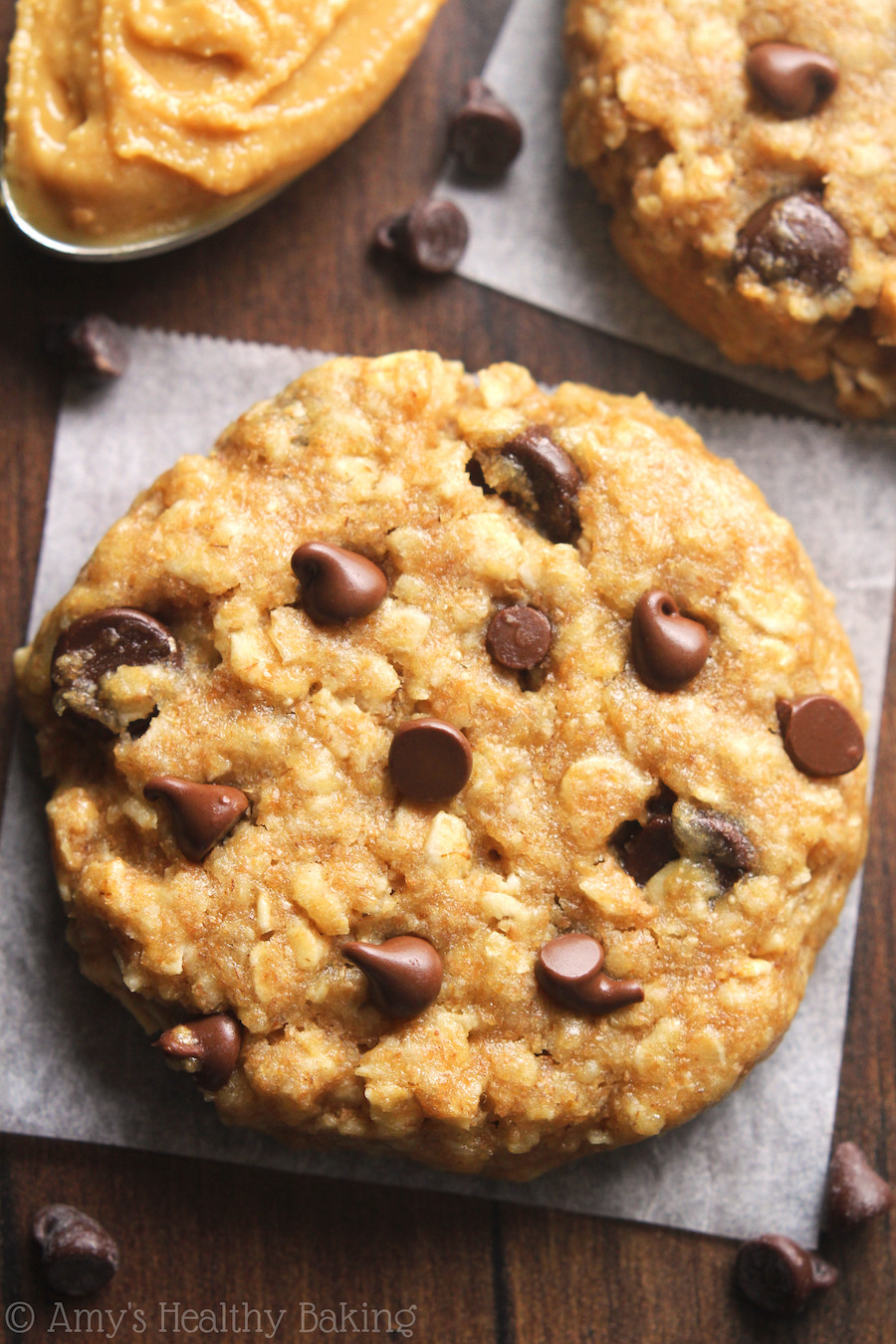 Peanut Butter Chocolate Chip Oatmeal Cookies  Chocolate Chip Peanut Butter Oatmeal Cookies Recipe Video