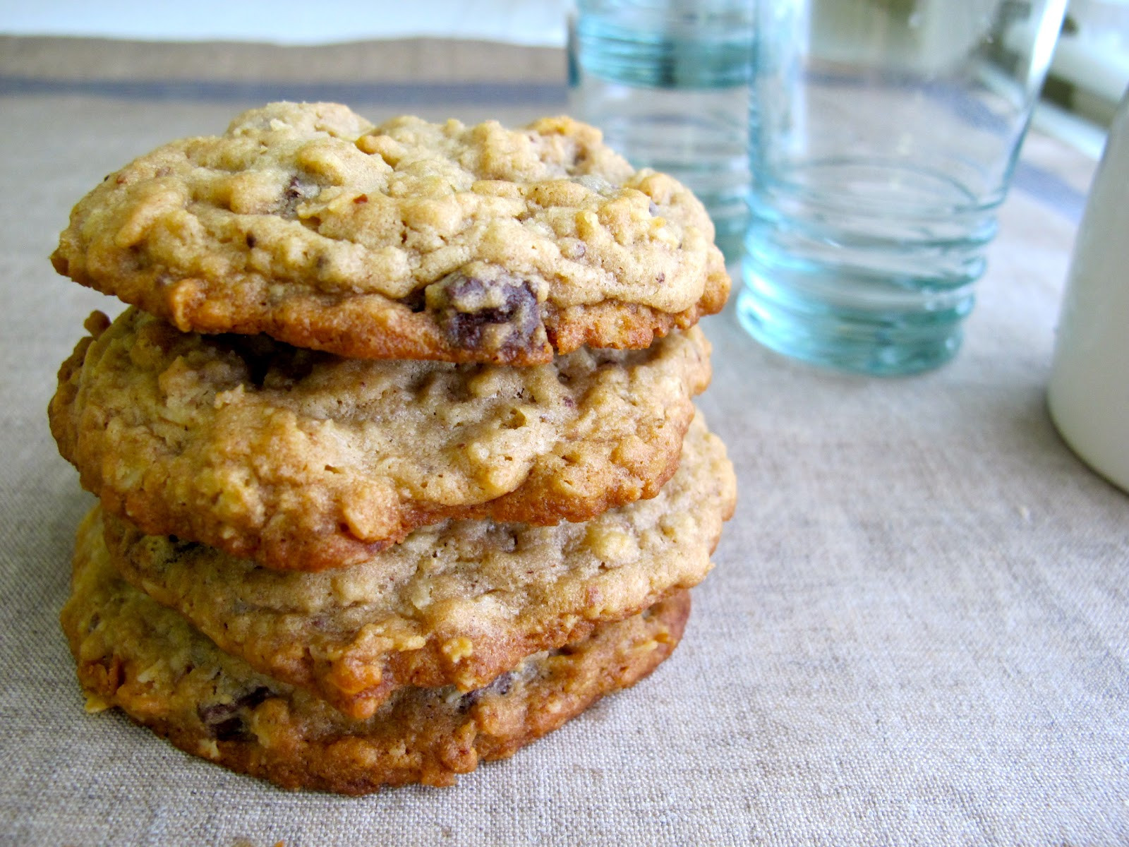 Peanut Butter Chocolate Chip Oatmeal Cookies  Jenny Steffens Hobick Peanut Butter Oatmeal & Chocolate