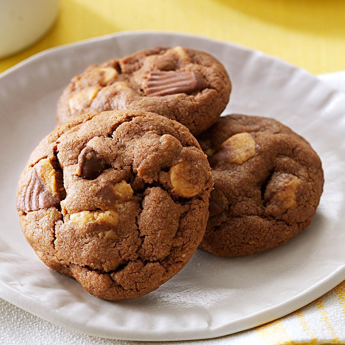 Peanut Butter Chocolate Cookies  Chocolate Peanut Butter Cup Cookies Recipe